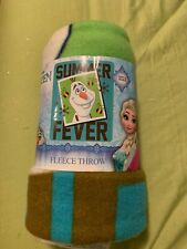 Disney Frozen Olaf Fleece Throw Blanket 40�X50� Fleece Soft And Warm New Bed
