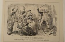 7x10 punch cartoon 1854 ENTHUSIASM OF PATERFAMILIAS grand charge british cavalry