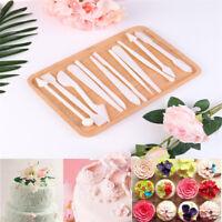 12Pcs Cake Modelling Mold Tools Set Fondant Clay Cutter Carve Pen Mould Tool Iw