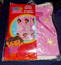 Dora the Explorer & Boots Pink Vinyl Shower Curtain Stars 70x72 Child Bathroom