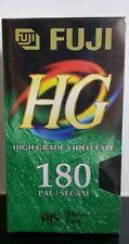 5 Blank High Grade Vintage VHS Tapes Fuji 3 Hour 180 Video PAL