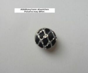 Design Buttons With Fabric Covered Black With Silver Grille Semi-Sphere