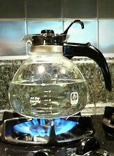 Stove Pot Top Whistling Glass Kettle 12 Cup Water Tea Coffee Gas Modern Kitchen