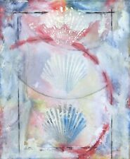 Scott Sandell Untitled Original Painting on Canvas shells beach ocean MAKE OFFER