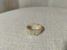10K DIAMOND NUGGET CLUSTER RING YELLOW GOLD MENS SIZE 10 by CI