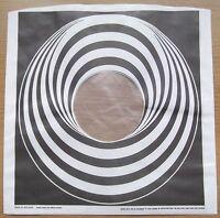 "4 x BLACK VERTIGO SWIRL / SPIRAL 12"" LP POLY-LINED INNER SLEEVES QUANTITY 4(NEW)"