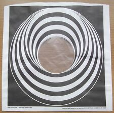 "4 x BLACK VERTIGO SWIRL / SPIRAL 12"" LP POLY-LINED INNER SLEEVES QUANTITY 4(NEW)"