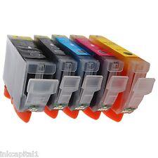 5 x Canon CLI-521 & PGI-520 Bk CHIPPED Inkjet Cartridges