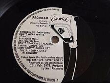 "The Bishops - Train Train / Good Guys Don't Wear White 6""  PROMO Vinyl"