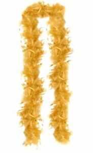 "Yellow and Gold Turkey Feather Boa 55GM 6 ft 72"" Costume Accessory"