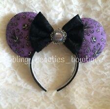 Haunted Mansion Purple Damask Minnie  Mickey Mouse Ears Disney Land Headband