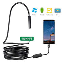 3in1 USB TYPE-C Snake Endoscope Inspection Camera 6//8 LED IP67 ANDROID PC Fq