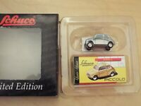 1:90 Schuco Piccolo Fiat 500, Nescafe Capucino Fiat 500F, Red & Green Stripe