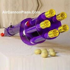 "Air Cannon Plans ""Build It Yourself"" .pdf Design Plans for a Rotary Potato Gun"