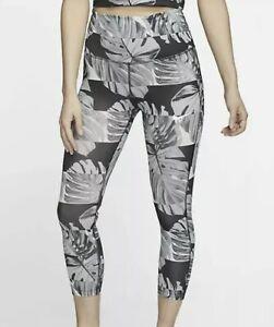 Women's Nike DRI-FIT Fast Runway Print Crop Running Tights   NWT Size S