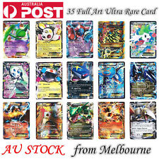 Newest 35 Pcs Pokemon GX Full Art Ultra Rare Card Pokémon  Shiny Gifts Pack Au