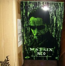 """hot toys 12"""" 1/6 scale 2015 matrix movie Keanu Reeves as NEO figure sideshow"""