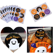 60pcs Halloween Stickers Decorative Baking Packing Seal Affixed Stickers FF