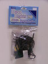 Indoor 20 Clear Teeny Bulbs/Rice Lights String/Strand Green Cord Home