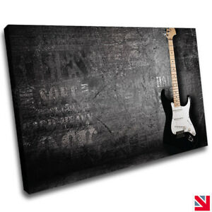MUSIC GUITAR CANVAS Wall Art Picture Print A4