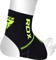 RDX Neoprene Ankle Support Foot Brace Guard Sports Shin Protector Feet MMA BLACK