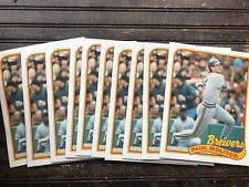 "VINTAGE Paul Molitor Milwaukee Brewers 1989 Topps LOT X 10 Folder 9.5"" X 11.75"""