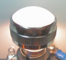 Vintage Dialco Panel Mount Indicator Light Lens Cap 1 White Smooth Screw On