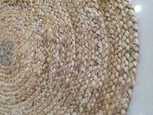 Hand made Pure Jute rug indian floor carpet round yoga rug For Living Room Decor