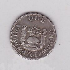 MEXICO 1761M SILVER HALF REAL IN VERY FINE OR SLIGHTLY BETTER CONDITION