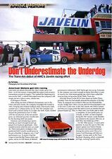 1968 AMERICAN MOTORS JAVELIN / DEBUT IN TRANS-AM RACING  -  4-PAGE ARTICLE / AD
