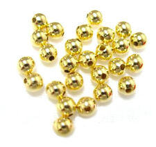 100 Gold Plated Round Smooth Beads 5MM