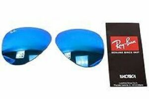 New Authentic RAY-BAN Sunglass Lens Replacements RB3025 Aviator Blue Mirror 62mm