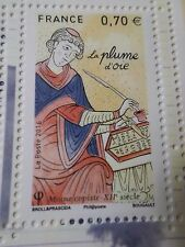 FRANCE, 2016, timbre LES PLUMES, PLUME D OIE, neuf** MNH, PEN