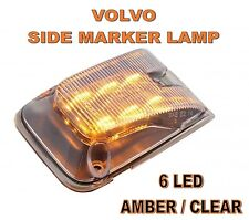 Volvo 6 LED Side Marker Lamp Clear Lens #20895320