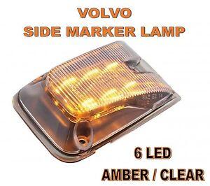 Volvo 6 LED Side Marker Lamp Clear Lens # 20895320