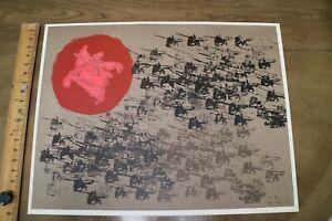 Nissan Engel Signed Israeli Artist's Proof Lithograph Horsemen Battle
