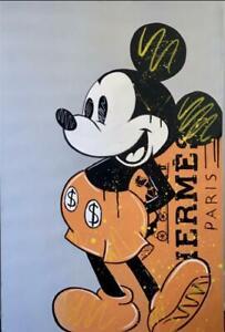 Original Hermes disney mickey painting artwork on canvas