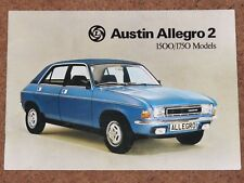 1975-75 AUSTIN ALLEGRO 2 Sales Brochure 1500/1750 MODELS - HL, Super, Special