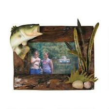 """River's Edge Products Bass Picture Frame Fir Wood 4""""X 6"""" Hang or Stand NWB #NN01"""