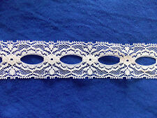"""1 1/2"""" Wide White Insertion Beading Galloon Lace Trim Spool Bolt Lot 270 yds New"""