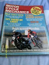 "motorcycle Mechanics/CB750 F ""550K3""400T/Z650/KH400/TS 250 B"