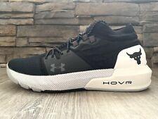 Under Armour UA PROJECT ROCK 2 Black/White Training Shoes 3022024-001 Men Sz 11