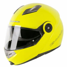 G-Mac Glide DVS Flip up Front Scooter Motorcycle Helmet Crash Safety Yellow XS
