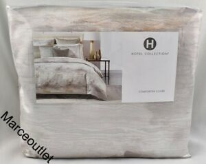 Hotel Collection Iridescence KING Duvet Cover Gray