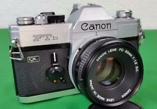 Vintage SLR 35mm Canon Camera model FTb with 50mm lens & Manual