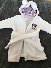 Minnie Mouse Dressing Gown Baby Pink 6-12 Months