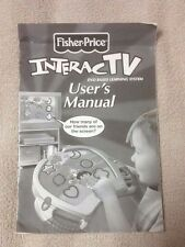 FISHER PRICE InteracTV DVD Based Learning System Replacement USER OWNER'S MANUAL