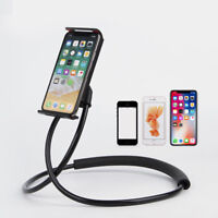 Flexible Hands Free Phone Cell Phone Holder Mount Universal Neck Hanging BracYB