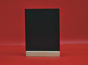 A4 Black Board Chalkboard With Wooden Plinth For Use With Liquid Chalk Pens