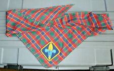 WEBELOS AND CUB SCOUT SCARF LOT OF 2 WITH PATCH PRISTINE SHAPE LOT OF 2 VINTAGE